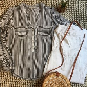 Lucky Brand Striped Long Sleeve Shirt